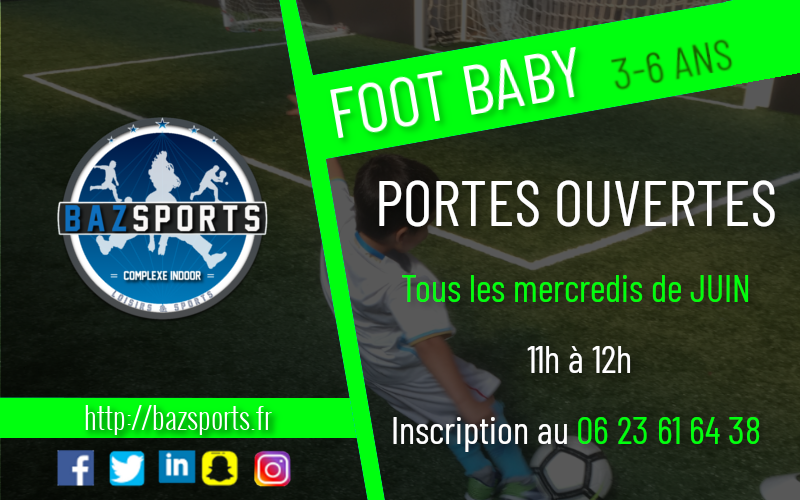 [Foot Baby] 3-6 ans : PORTES OUVERTES !